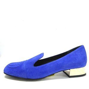 Gucci Suede Loafers Mirror Heels GG Logo